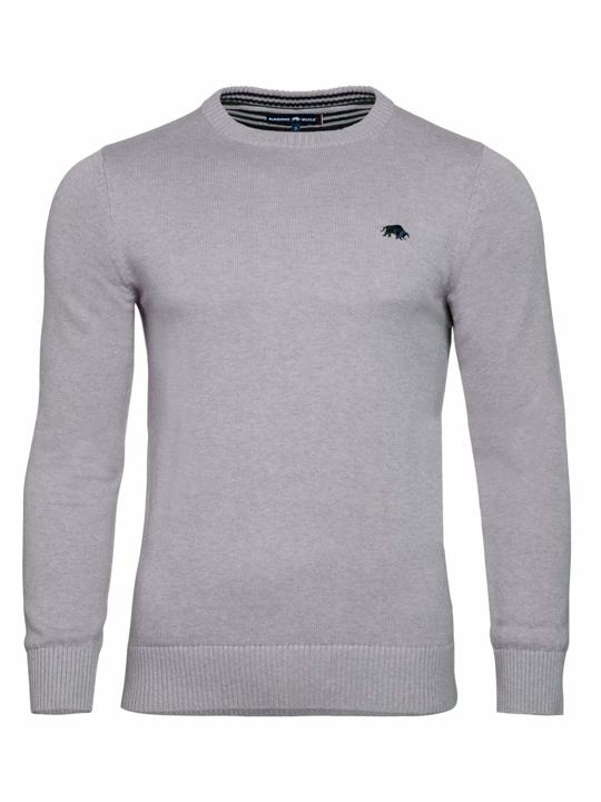high quality grey crew neck jumper