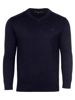 high quality navy v-neck jumper