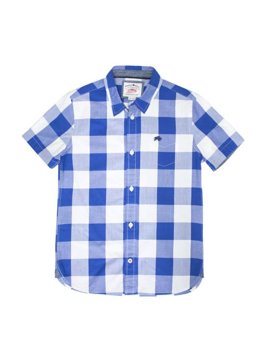 Raging Bull Short Sleeve Boys Check Shirt
