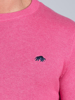 Raging Bull Big & Tall Crew Neck Cotton/Cashmere Knit - Pink