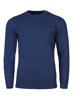 high quality blue crew neck jumper