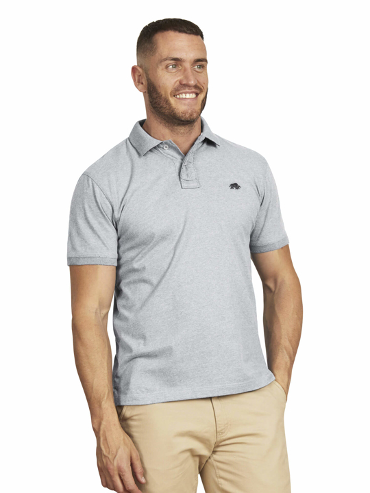 Raging Bull - Big & Tall - Signature Jersey Polo - Grey