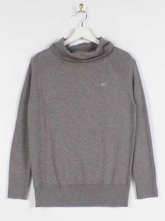 Raging Bull Soft Roll Neck Pullover - Grey Marl