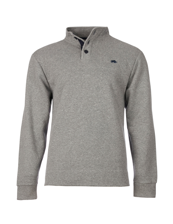 Raging Bull Signature Button Jersey Sweat - Grey