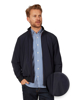 model wearing high quality navy lightweight jacket
