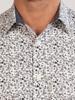 Raging Bull Long Sleeve Floral Print Poplin Shirt - White