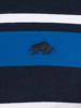 Raging Bull Big & Tall Irregular Stripe Jersey Polo - Cobalt