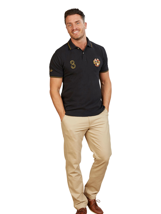 Raging Bull - Big & Tall Crest Pique Polo - Black