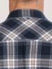 Raging Bull Big & Tall Long Sleeve Check Brushed Twill Shirt - Navy