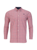 Raging Bull Big & Tall Long Sleeve Multi Check Shirt - Vivid Pink