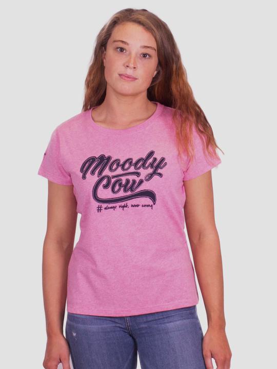 Raging Bull Original Moody Cow Tee  - Pink