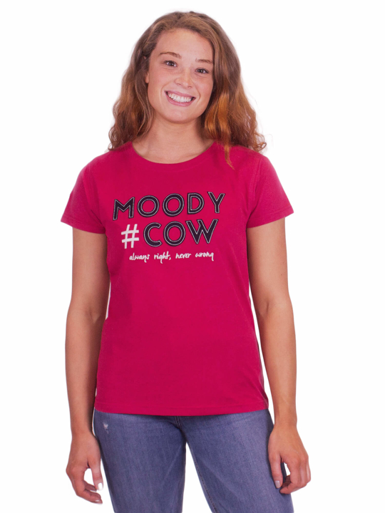 Raging Bull Hashtag Moody Cow T-Shirt - Berry