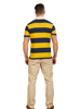 Raging Bull Big & Tall Short Sleeve Block Stripe Rugby - Navy