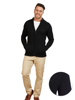 Raging Bull Big & Tall Chunky Rib Knit Cardigan - Black