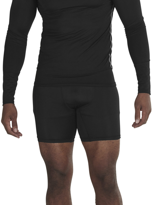 model wearing high quality compression short