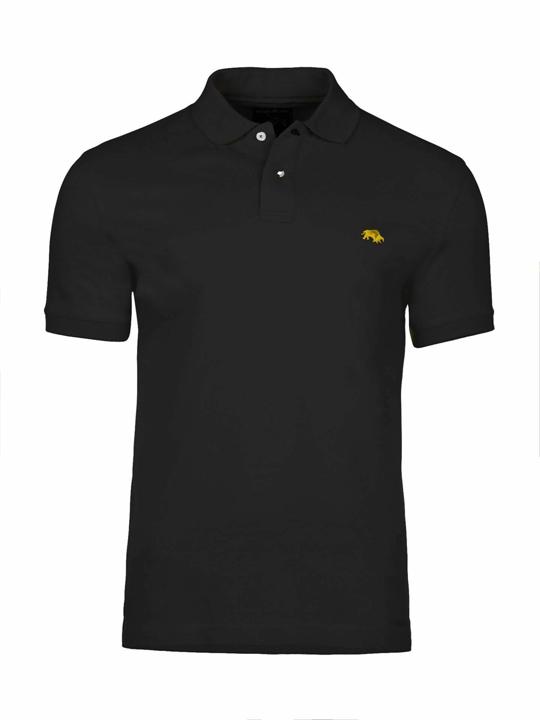 high quality black polo shirt