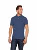 high quality denim blue polo shirt