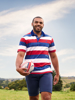 Raging Bull Big & Tall Short Sleeve Oxford Collar Rugby - Red