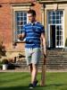 Raging Bull Big & Tall Short Sleeve Breton Stripe Rugby - Navy