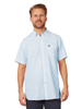 Raging Bull Short Sleeve Signature Linen Shirt - Sky Blue