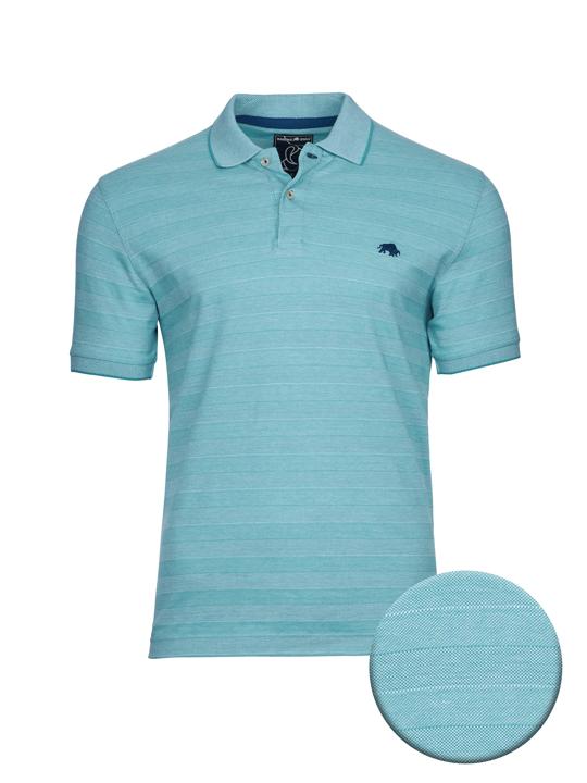 high quality striped mint polo shirt