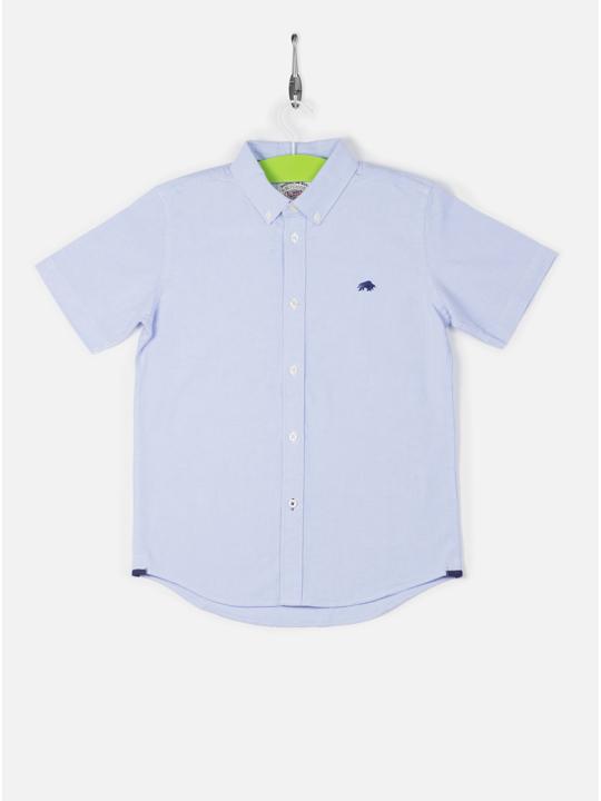 Raging Bull Kids Short Sleeve Oxford Shirt - Sky Blue