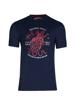 high quality navy graphic t-shirt