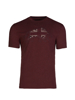 high quality red embroidered t-shirt