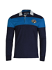 high quality blue stripe long sleeve crest rugby shirt