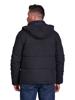 Raging Bull Big & Tall Hooded Puffer Jacket - Black