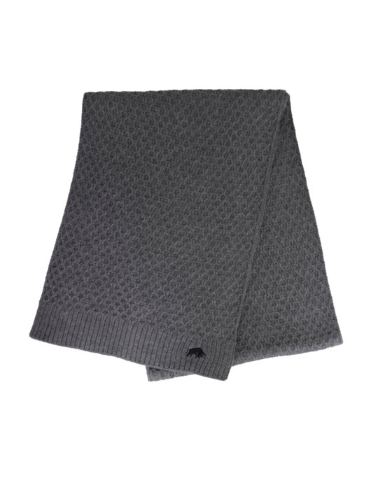 Raging Bull Cable Knit Scarf - Charcoal