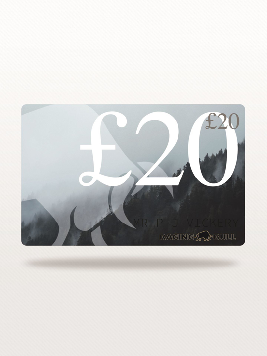 Raging Bull £20 e-Gift Card