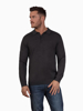 Raging Bull Big & Tall - Long Sleeve Signature Knitted Polo - Charcoal