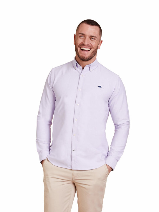 Raging Bull Big & Tall - Long Sleeve Signature Oxford Shirt - Purple