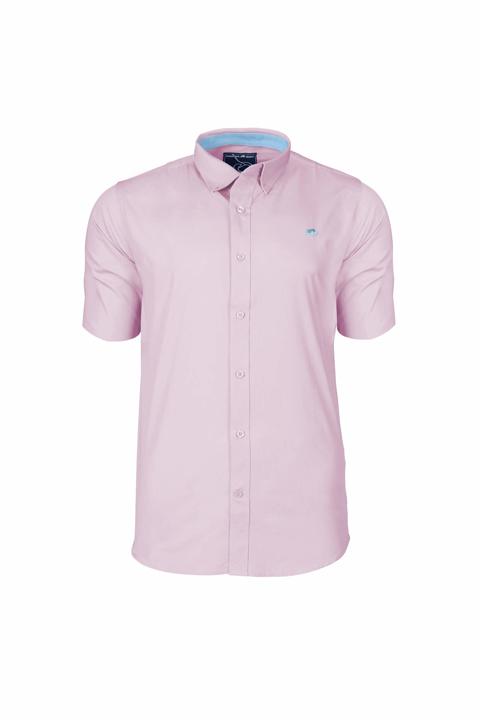 Raging Bull Big & Tall - Short Sleeve Signature Oxford Shirt - Pink