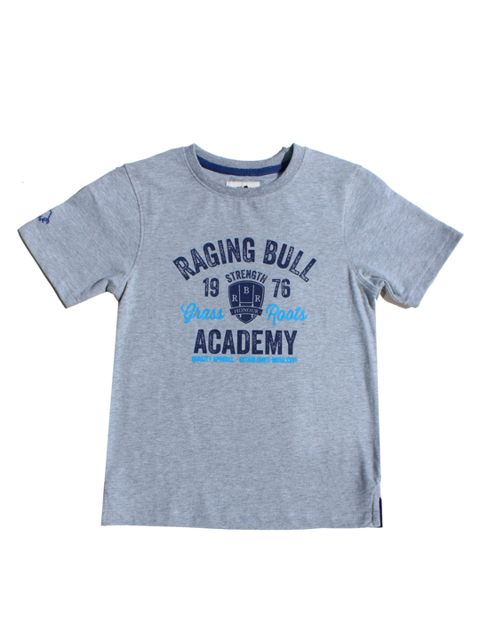 Raging Bull Grass Roots Academy Tee - Grey