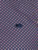 Raging Bull Long Sleeve Circle Print Shirt - Navy