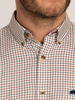 Raging Bull Long Sleeve Window Pane Shirt - Claret
