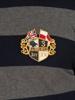 Raging Bull Long Sleeve Hooped Rugby - Navy/Grey
