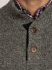 Raging Bull Salt & Pepper Button Knit - Charcoal