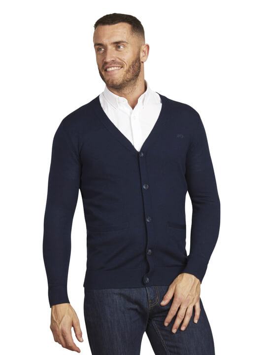 Raging Bull Button Up Cardigan - Navy