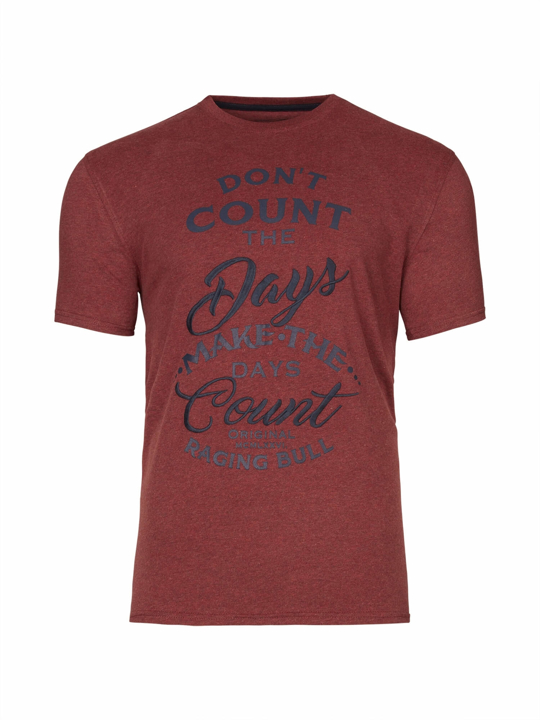 Raging Bull Count the Days Tee - Claret