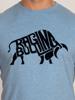 Raging Bull Flock Bull Tee - Denim Blue