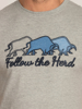 Raging Bull Follow the Herd Tee - Grey Marl