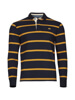 Raging Bull Long Sleeve Stripe Rugby - Navy/Yellow
