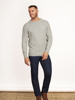 Raging Bull Signature Cable Knit Crew Neck - Grey Marl