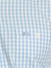 Raging Bull Long Sleeve Signature Gingham Shirt - Sky Blue