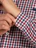 Raging Bull Long Sleeve 3 Colour Check Shirt - Claret