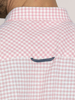 Raging Bull Short Sleeve Linen Look Gingham Shirt - Pink