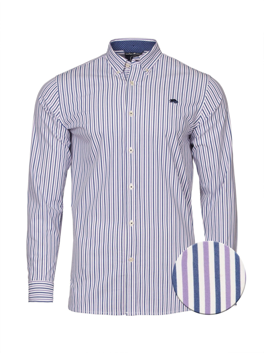 Raging Bull Long Sleeve Bengal Stripe Shirt - Purple